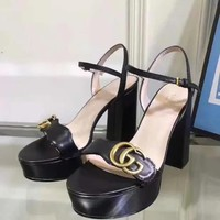 Gucci Women Casual Shoes Boots fashionable casual leather Women Heels Sandal Shoes created created