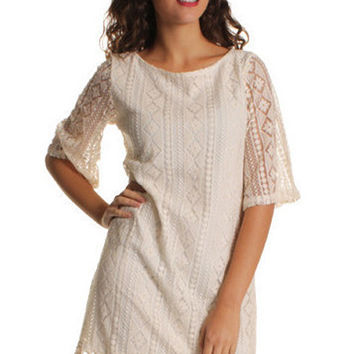 Bohemian Aztec Embroidered Shift Dress