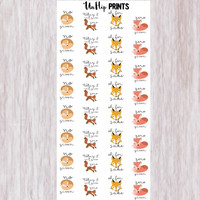 Fox Stickers, No Fox Given Stickers, Planner Stickers, Zero Fox Given Stickers, For Fox Sake Stickers, Day Off Stickers, Canceled (#0166)