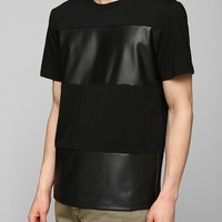 Charles & 1/2 Faux-Leather Stripe Tee - Urban Outfitters