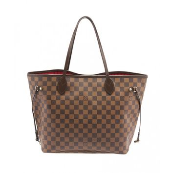 Louis Vuitton Neverfull MM Damier Ebene Coated Canvas & Leather Tote