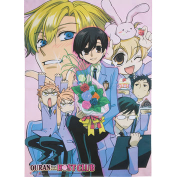 Ouran Host Club Haruhi Hosts Fabric Poster