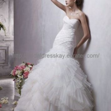 mermaid sweetheat tulle layered skirt  wedding dress2012,wedding gown, wedding dress