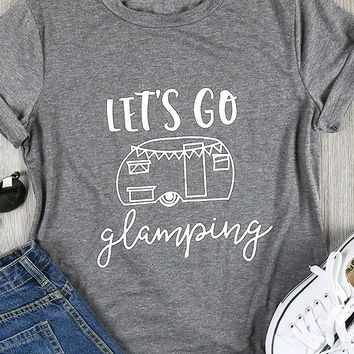 Let's Go Glamping, T-Shirt (Small-XXXL)