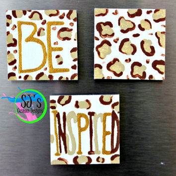 Cheetah print kitchen refrigerator magnet decorative painting decoration, Be Inspired.