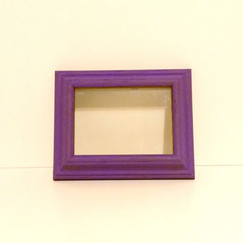 Purple painted frame Distressed picture frame Hand painted frame decorative frame