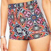 Boohoo Aztec Hot Pants