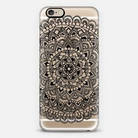 Black Mandala Lace Pattern iPhone 6 case by Laurel Mae | Casetify