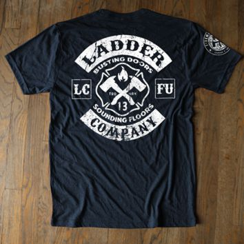Ladder Company - Vintage Logo Navy Tee