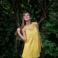 Crochet Bodice Dress in Yellow