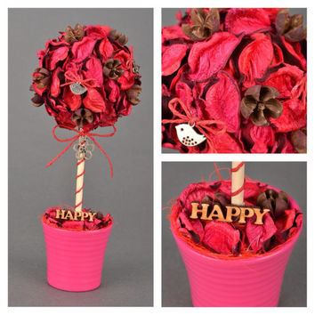 Topiary cerise Table centerpiece Table decor Spring decor Happy tree