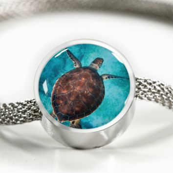 Sea Turtle Tropics - Charm Bracelets for Women [Custom Jewelry]