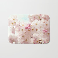 cherry blossoms Bath Mat by sylviacookphotography