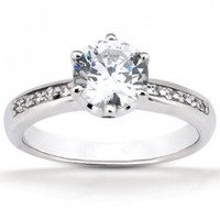 Lab Created Diamond Engagement Ring - Compari