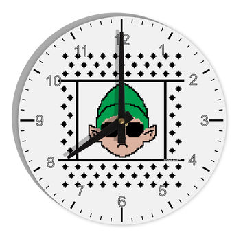 "Cool Elf Christmas Sweater 8"" Round Wall Clock with Numbers"