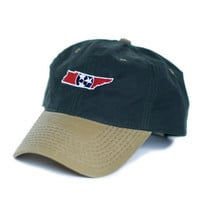 Tennessee Traditional Hat Waxed Canvas Green w/ Tan
