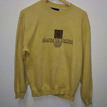Giani Valentino Italy sweatshirt jumper pullover Embroidery logo vintage