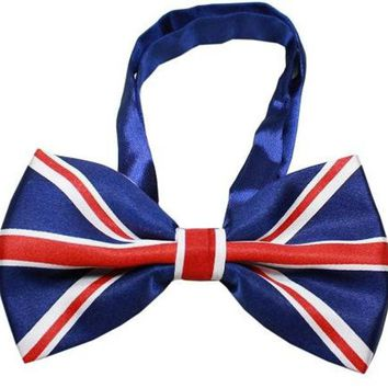 ONETOW Big Dog Bow Tie British Flag