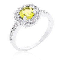 Citrine Halo Engagement Ring, Citrine Ring, CZ Ring, Halo Ring, CZ Wedding Ring, CZ Engagement Ring, 1.23 ct November Birthstone Ring