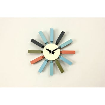 Control Brand G80711COLOR George Nelson Colorful Block Clock