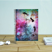 Disney New Peter Pan Quote Galaxy Photo Notebook Auroid