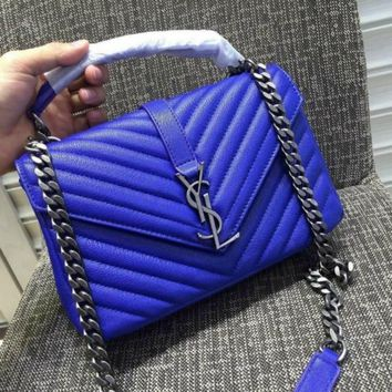 ysl saint laurent a232112 blue bag handbag