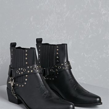 Y.R.U. Studded Leather Booties