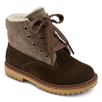 Cherokee Toddler Boys' Sherpa Lined Boots, 6, Brown