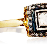 Scalloped Diamond Frame Ring,, Stone & Novelty Rings