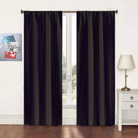 Pairs To Go Black Curtain Panel Pair Ellery Homestyles Panels & Panel Sets Window Treatmen