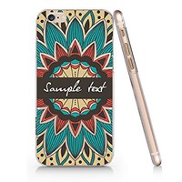 Supertrampshop - Mandala Floral Customized Text - Cover Iphone 6 6s Full Protection Durable Transparent Plastic Case (VAS565)