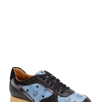 Women's MCM Coated Canvas & Leather Trainer