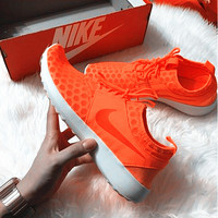 """Nike"" Fashion Women Sport Shoes Casual Sneakers honeycomb  Orange"