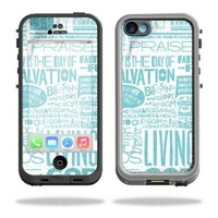 Mightyskins Protective Vinyl Skin Decal Cover for LifeProof iPhone 5C Case fre Case wrap sticker skins Faith