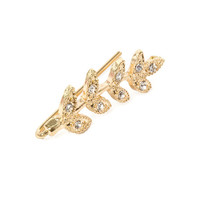 Gold and Crystal Vine Ear Pin