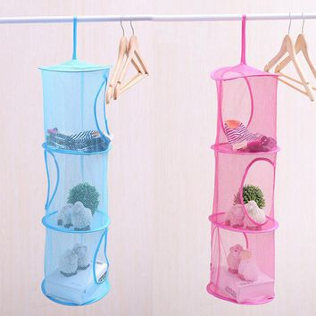 Mesh Hanging Foldable Storage Container Basket