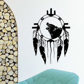 WALL DECAL VINYL STICKER DREAM CATCHER DREAMCATCHER BEDROOM PROTECTION SB387