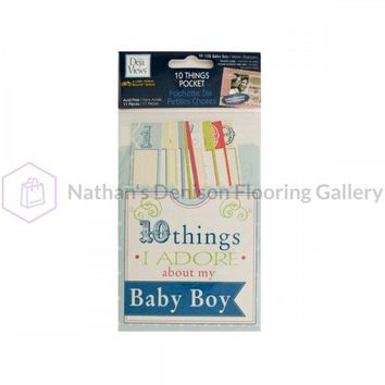 10 Things I Adore About My Baby Boy Journaling Pocket CG588
