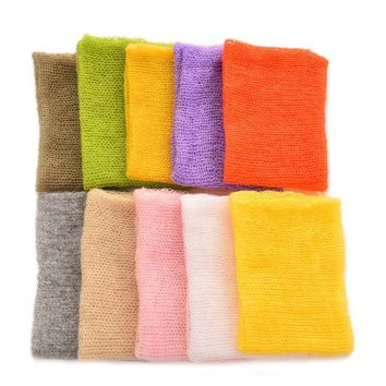 New 1Pcs Newborn Photography Wraps Handmade Flower Headband Mohair baby photography props Baby Photo props Accessories