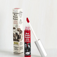 In No Time Matte Liquid Lipstick in Bright Red by theBalm from ModCloth
