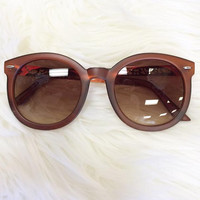 Acting Shady Sunglasses- Matte Brown