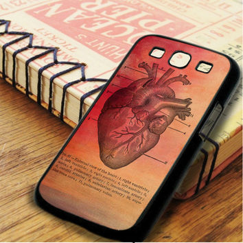 Vintage Medical Heart Illustration Samsung Galaxy S3 Case