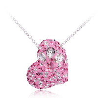 Pink Heart Necklace made with SWAROVSKI ELEMENTS