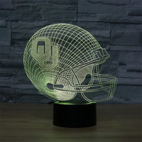 Oklahoma Sooners 3D Illusion Lamp