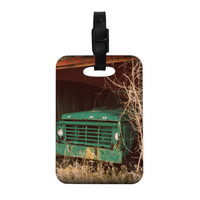 """Angie Turner """"Ford"""" Teal Car Decorative Luggage Tag"""