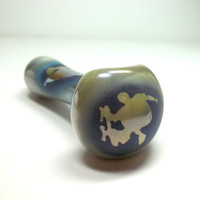 Glass Pipe, Skateboard Sandblasted Glass Pipe, READY to SHIP, Hand Blown Glass, CGGE Team, Unique