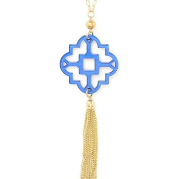 ZENZII Mosaic Tassel Necklace