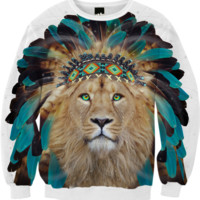 Fight For What You Love • Chief of Dreams: Lion v.2 Unisex FALL Sweatshirt created by soaringanchordesigns | Print All Over Me
