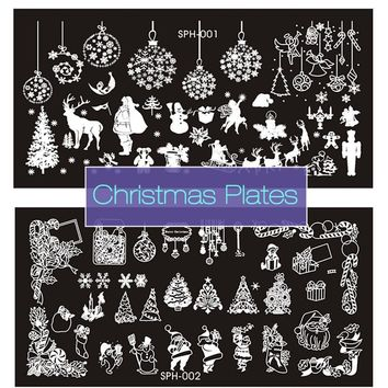 New Nail Stamping Plates Christmas Halloween 9 Style Stainless Steel Nail Art Stamp DIY Template Manicure Nail Tools Gift Hot