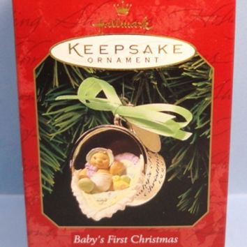 1999 Baby's First Christmas Hallmark Retired Ornament